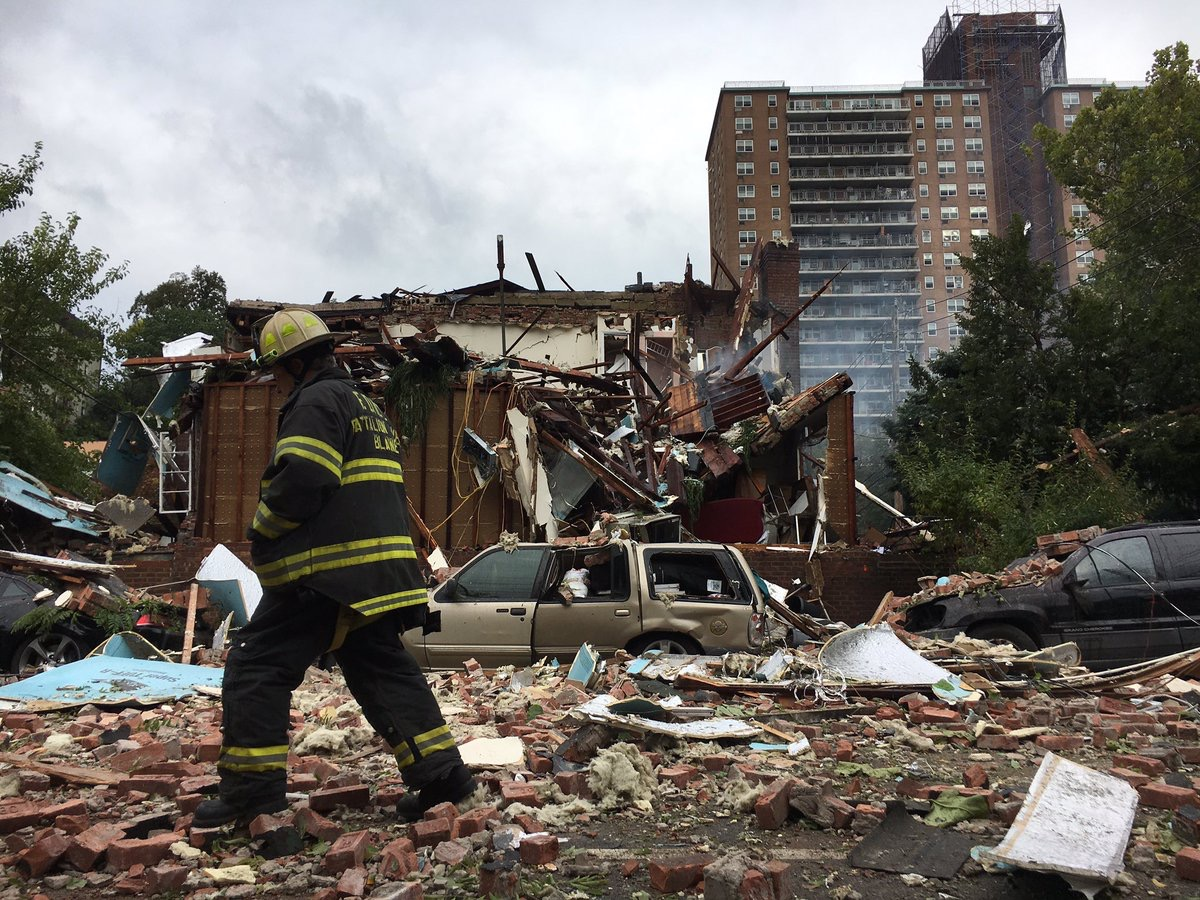 A gas explosion rocked the Kingsbridge section of the Bronx