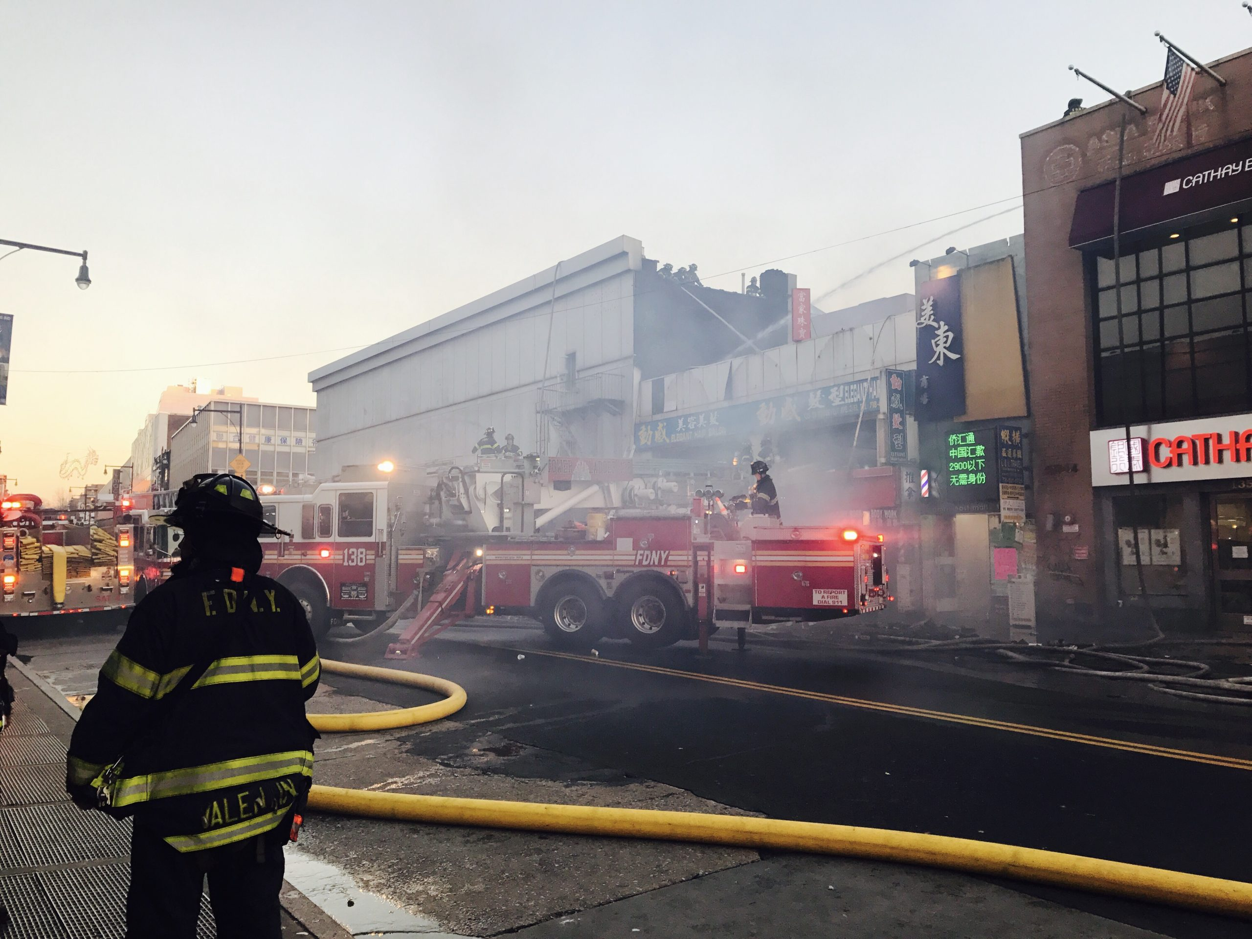 4-Alarm Fire breaks out in Flushing, Queens