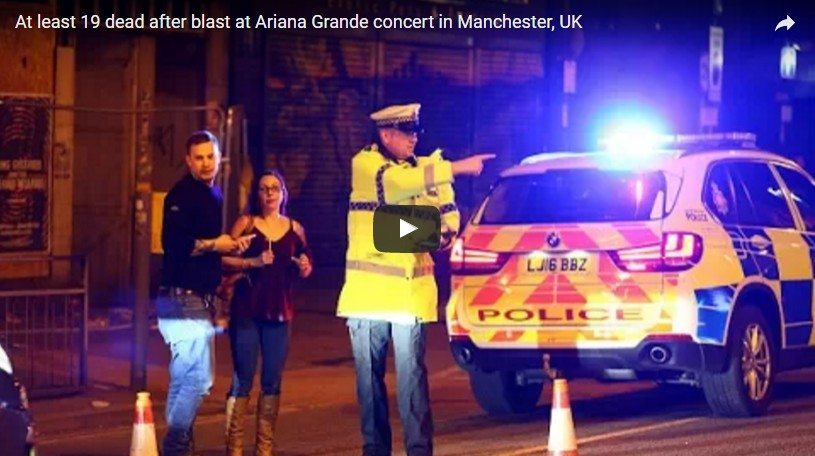 At least 19 dead after blast at Ariana Grande concert in Manchester, UK