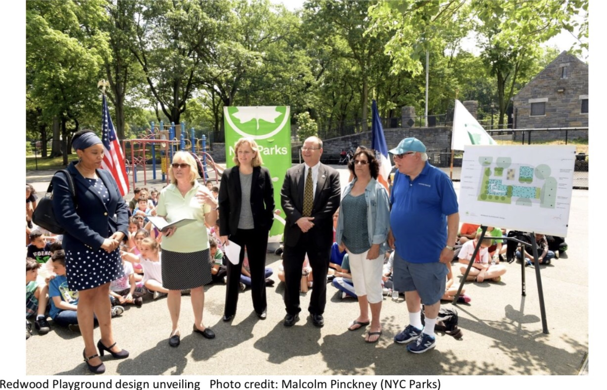 Queens Borough President Melinda Katz and Council Member Barry S. Grodenchik Secure $1.7 Million For Redwood Playground Dream Renovation