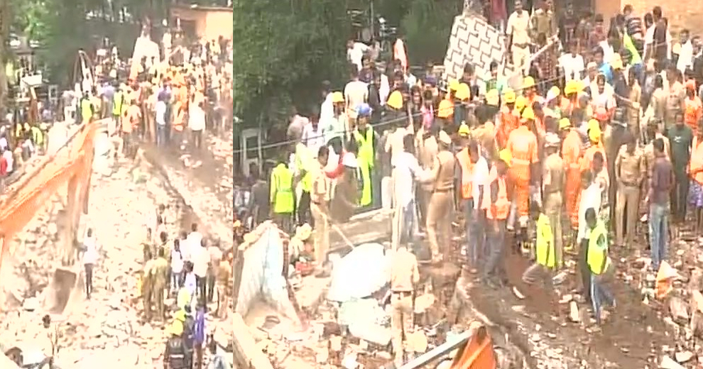 At least a dozen die after building collapses in Mumbai