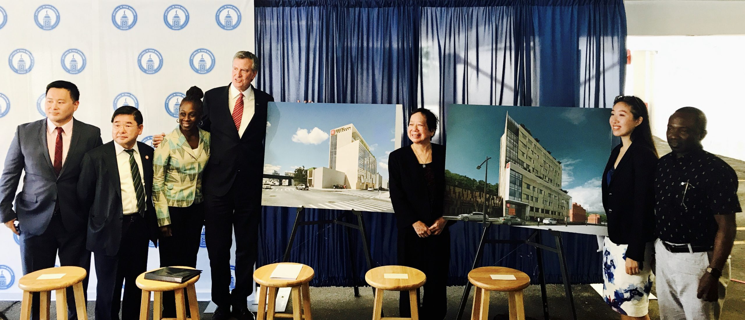 MAYOR DE BLASIO ANNOUNCES PLANS FOR A $65 MILLION COMMUNITY HEALTH CENTER IN FLUSHING