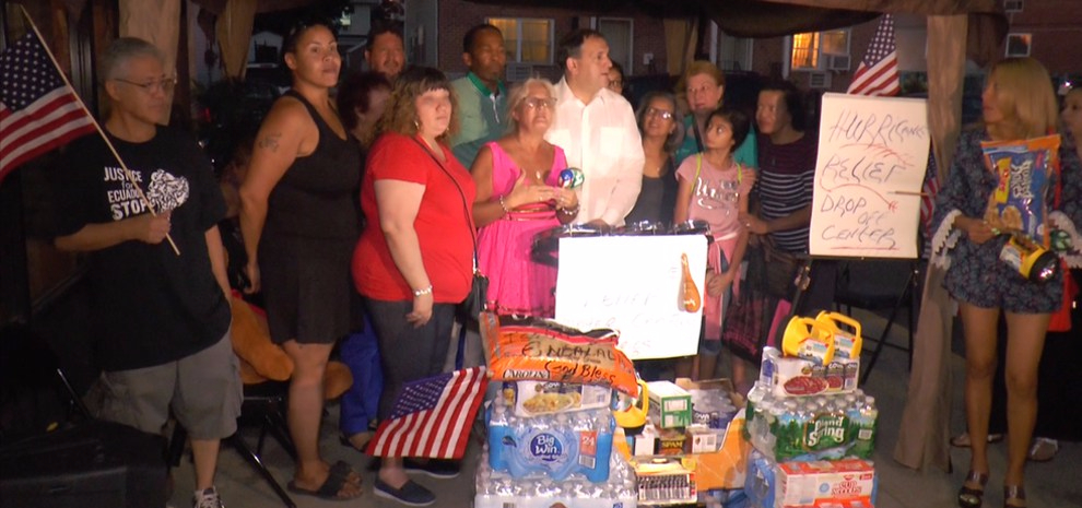 Queens Residents Collect Donations, Hold a Candle Light Vigil and Pray for Puerto Rico, Mexico