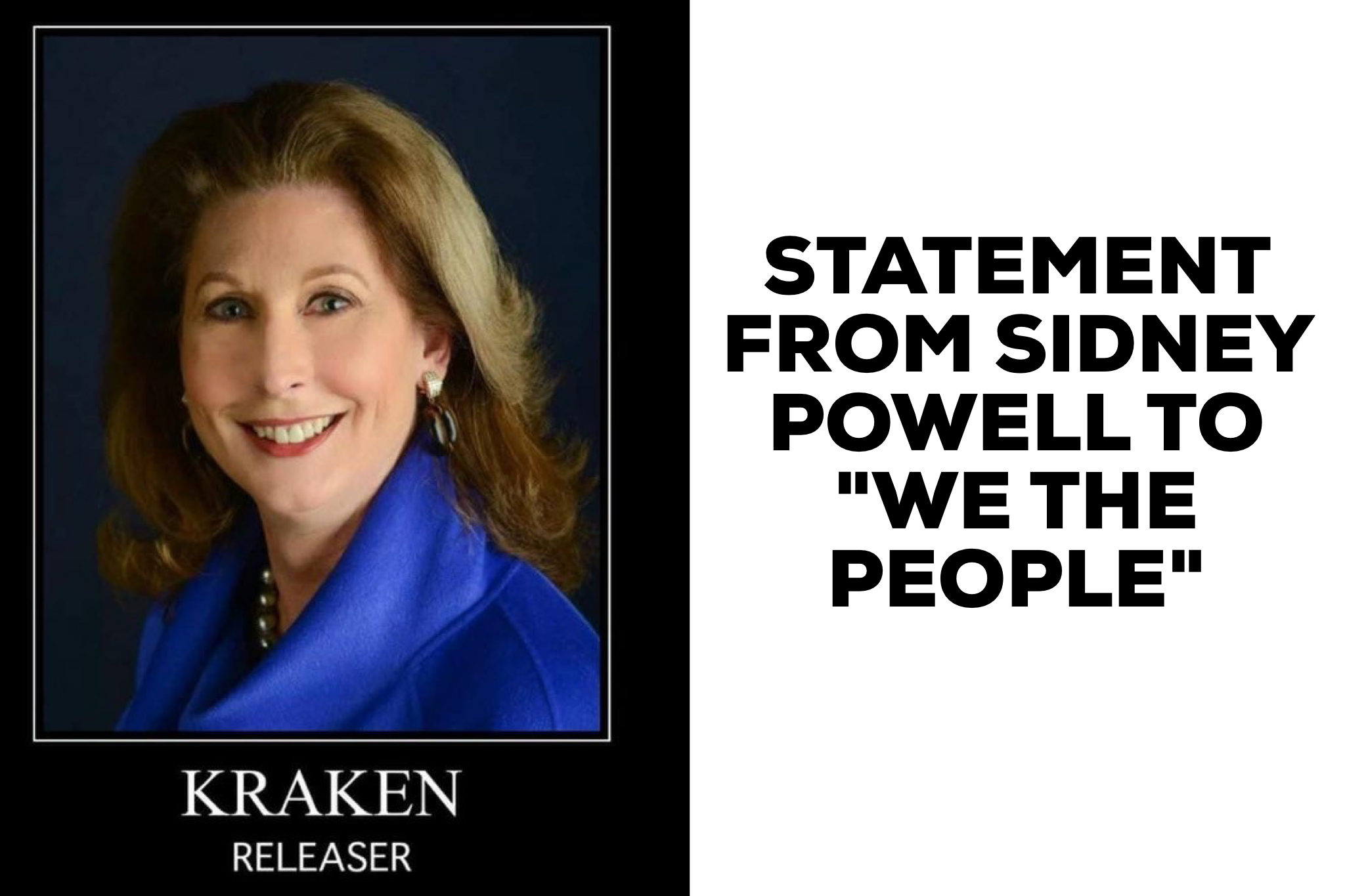 "STATEMENT FROM SIDNEY POWELL TO ""WE THE PEOPLE"""